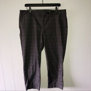 Ann Taylor Gray Plaid Ankle Pants